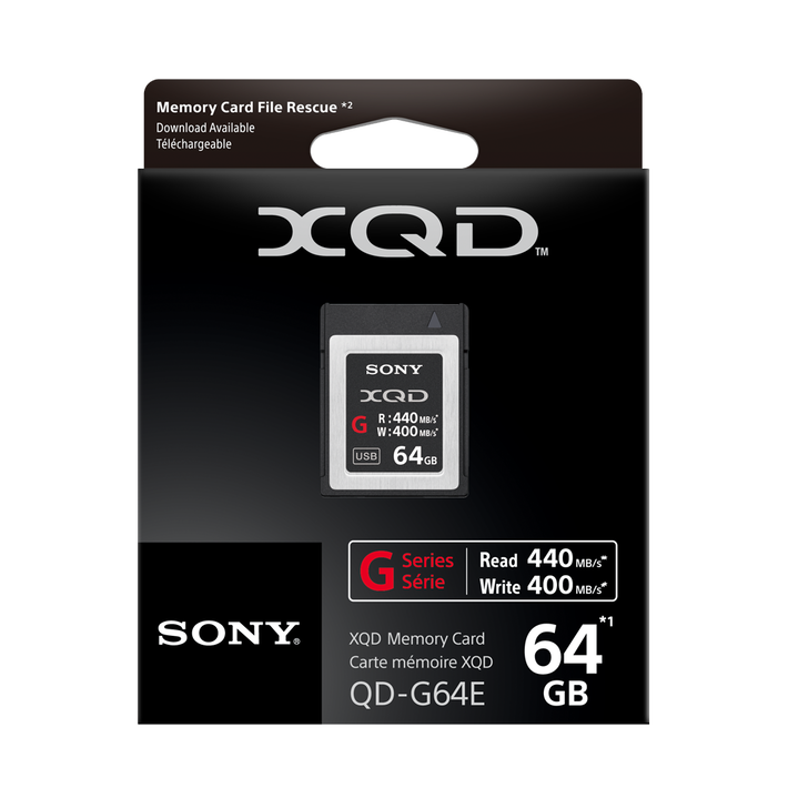 XQD G Series 64GB Memory Card, , product-image