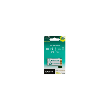 Cycle Energy Multi-Use Premium AAA size 2-pc Blister pack (800mAh), , hi-res