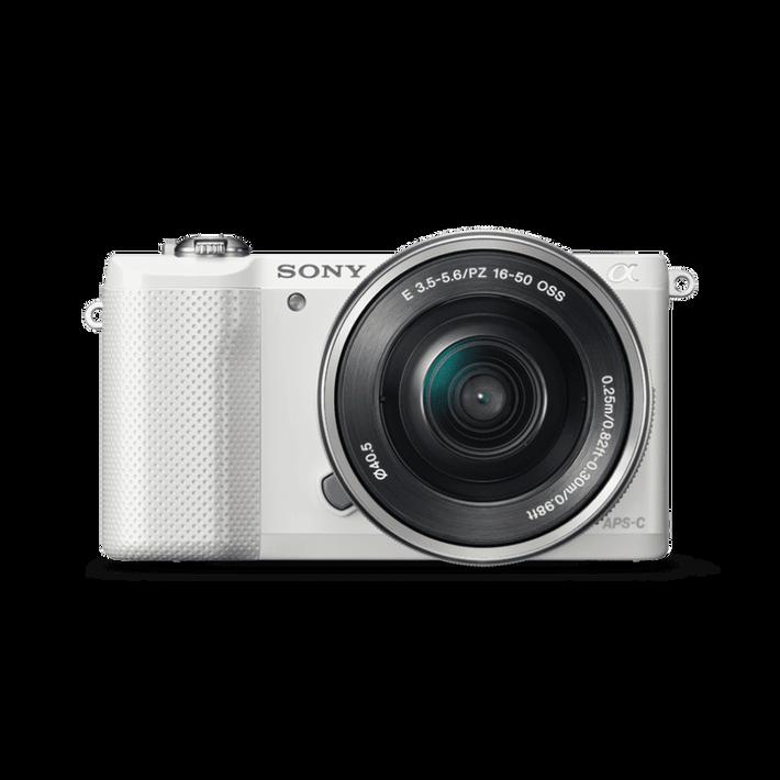 A5000 20.1MP APS-C ILC WHT WITH 16-50MM LENS, , product-image