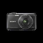16.2 Megapixel W Series 5X Optical Zoom Cyber-shot Compact Camera (Black), , hi-res