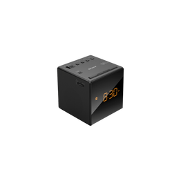 Single Alarm Clock Radio (Black), , lifestyle-image