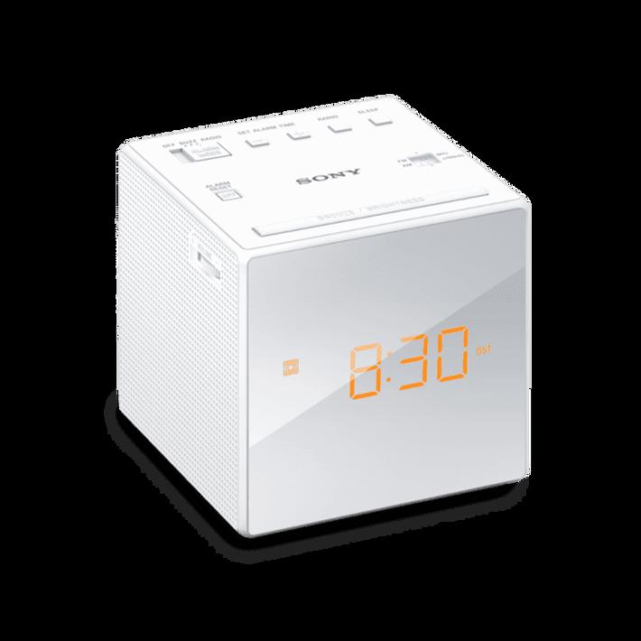 Single Alarm Clock Radio (White), , product-image