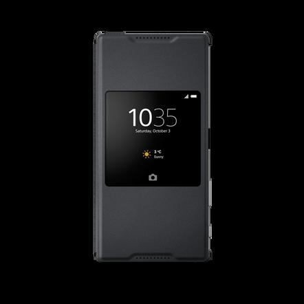 Style Cover Stand SCR46 for Xperia Z5 Premium (Graphite Black), , hi-res
