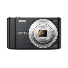 W810 Digital Compact Camera with 6x Optical Zoom (Black)