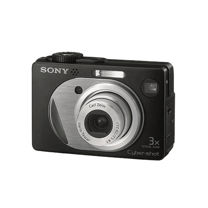 5.1 Megapixel W1 Series 3X Optical Zoom Cyber-shot Compact Camera (Black), , product-image