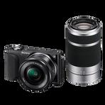 NEX3 16.1 Mega Pixel Camera Body (Black) with SELP1650 and SEL55210 Lens, , hi-res