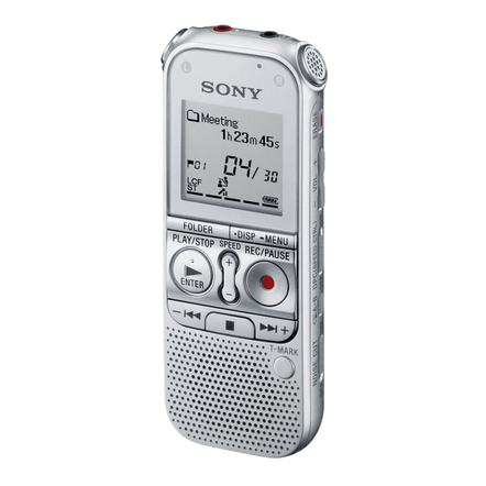 2GB AX Series Digital Voice Recorder with expandable memory capabilities (Silver), , hi-res