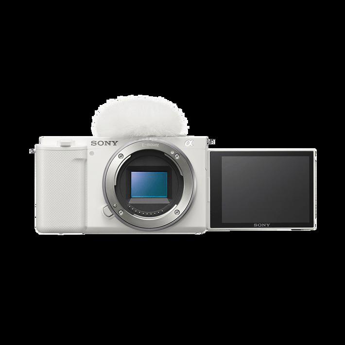 ZV-E10   Interchangeable Lens Vlog Camera (White), , product-image