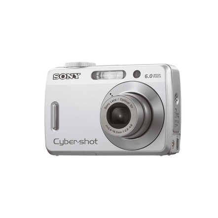 6.0 Megapixel S Series Cyber-shot Compact Camera  (Black)