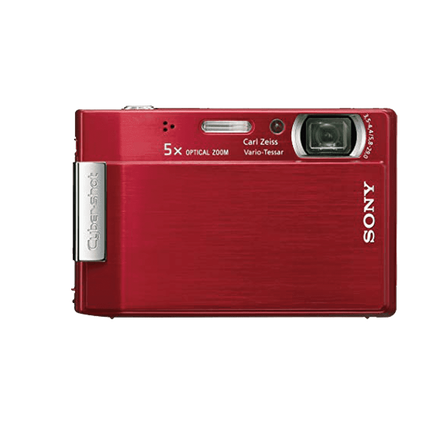 8.1 Megapixel T Series 5X Optical Zoom Cyber-shot Compact Camera (Red)