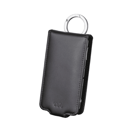 Leather Carrying Case for Video MP3 Walkman (Black)