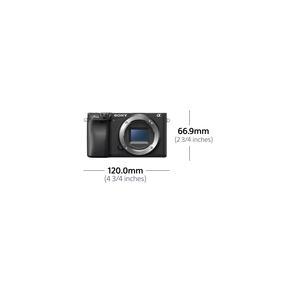 a6400 Premium Digital E-Mount Camera with APS-C Sensor (Black Body)