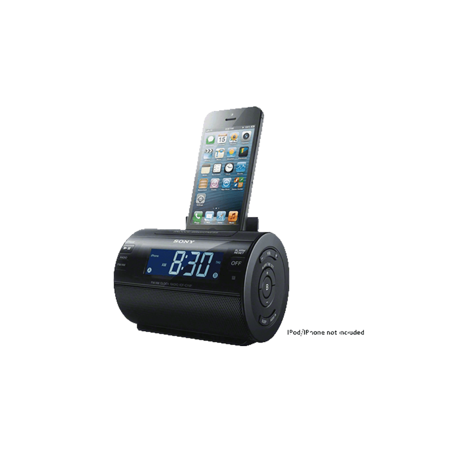 iPod and iPhone Dock Clock Radio (Black), , thumbnail