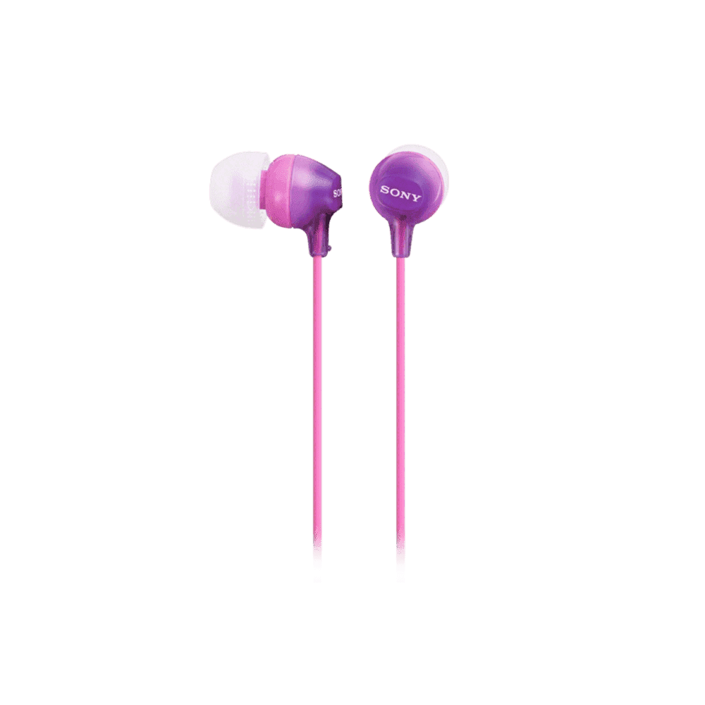 In-Ear Lightweight Headphones with Smartphone Control (Violet)